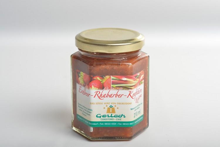 """Erdbeer-Rhabarber-Konfitüre """"Extra"""""""